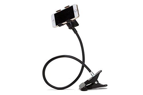DAYAN supporto telefono cellulare universale telefono mobile banco pigro staffa flessibile braccia lunghe clip montaggio letto desktop ufficio nero
