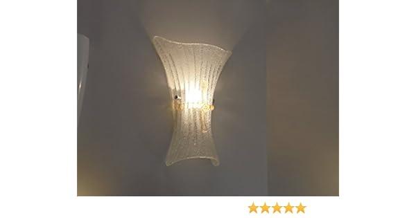 Fiocco ap1 applique grande vetro stile murano diamantlux: amazon.it