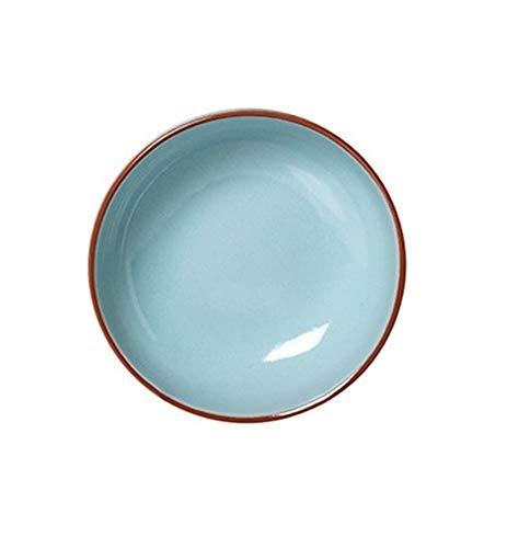 Assiette creuse en terre cuite Bleu ciel 6 pièces, diamètre 190 mm