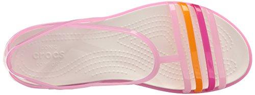 crocs Damen Isabella-202465 Sandalen Flipflops Rosa (Carnation / Weiß)