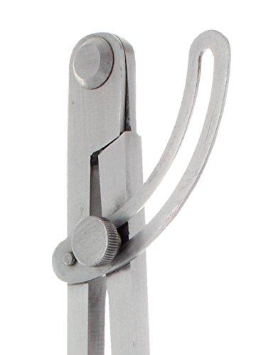 HEDUE B601 Spitzzirkel 200 mm mit Bleistifthalter und Stellbogen, geschmiedeter Stahl,