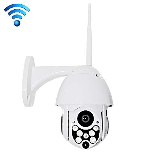 HD-Netzwerk-Videokamera WiFi IP-Kamera, Unterstützung SD-Karte (128 GB Max) Überwachung (Farbe : Weiß) -