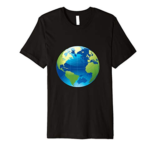 Earth Globe T-Shirt Coole Bild von unserem Planet (Globe Bild)