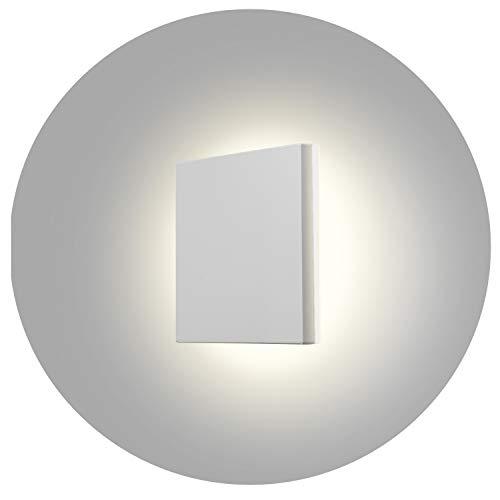 Topmo-plus 8W Lámpara da parete LED OSRAM SMD Luci Muro Applique design per interno/esterno waterproof IP65 alluminio Faretto soggiorno/terrazzo/giardino 15CM (bianco/bianco naturo)
