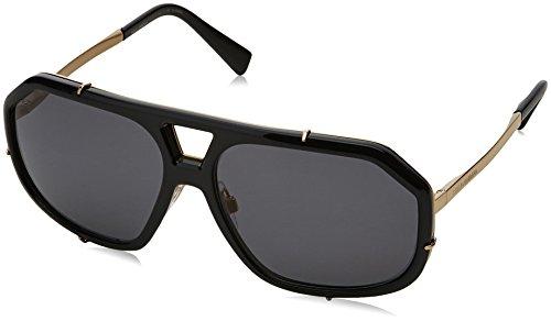 Dolce & Gabbana Herren 0DG2167 01/81 61 Sonnenbrille, Schwarz (Black/Polargrey),