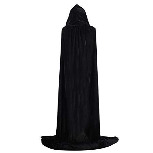 Shiningbaby Halloween Cape Mantel Samt Erwachsenen Hoodie Kostüm Cosplay Wizard Prinzessin Kostüm (Hexe König Kostüm Tunika)
