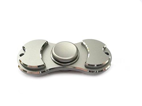 Preisvergleich Produktbild Weber-tech Fidgets Spielzeug EDC Fidget Spinner Keramik Lager Kind / Erwachsene Lustige Anti Spielzeug Geschenk (grau) (Grey)