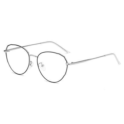Idyandyans Männer Frauen Retro-Metallrahmen optische Gläser Brille Unisex freies Objektiv Eyewear Myopic Glas-Rahmen