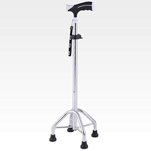 Tyxhzl walking frame bastone da passeggio a quattro zampe uomo con bastone antiscivolo in lega di alluminio telescopico a canna stagna