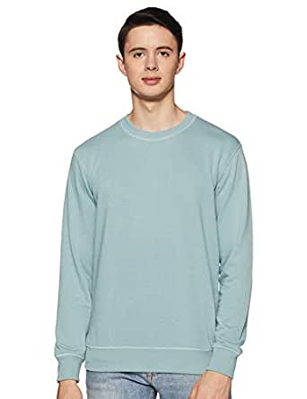 Amazon Brand - Symbol Men's Sweatshirt (AW18MNSSW01_Blue Haze_M)