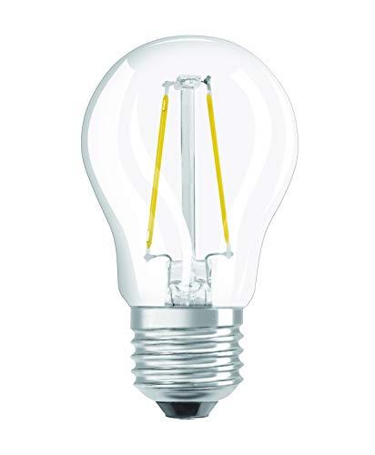Osram LED Star Classic P Lampe, in Tropfenform mit E27-Sockel, nicht dimmbar, Ersetzt 25 Watt, Filamentstil Klar, Warmweiß - 2700 Kelvin, 1er-Pack