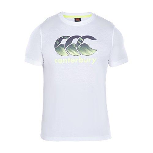 CANTERBURY Herren CCC Logo T-Shirt–Weiß, X-Large (Polo Herringbone Cotton)