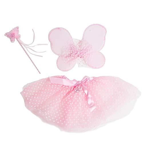 Bodysocks® Disfraz de Hada Rosa Niña 3-5 años