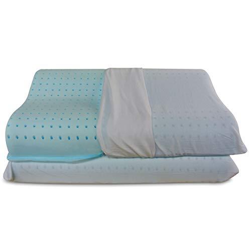 Baldiflex, par de Almohadas de Memory Foam Modelo Ortocervicales Premium Fresh, Almohada...