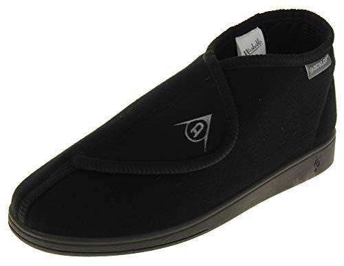 Dunlop Dmh7595 Hombre Negro Ajustables Toque de Fijación Ortopédicos Botas Zapatillas EU 46