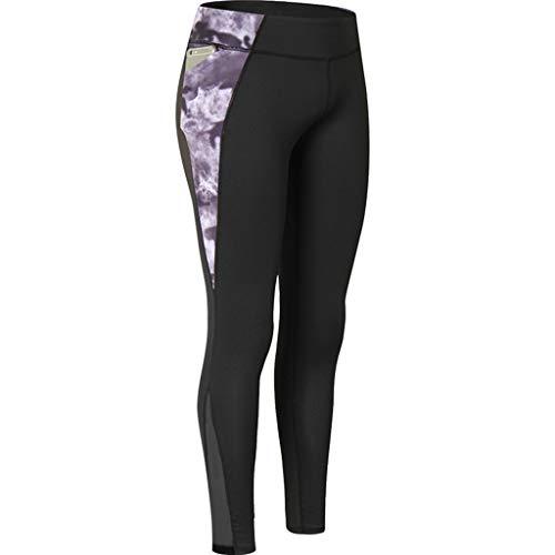 (Elsta Damen Hohe Taille Sport Gedruckt Leggings Sport Leggings Yoga Sporthose mit Seitentaschen Damen Leggings Classics Stretch Workout Fitness Jogginghose Mit Handytasche)