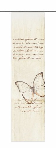 Home Fashion 87480-718 Schiebevorhang Digitaldruck Kolari, Dekostoff, 245 x 60 cm, beige