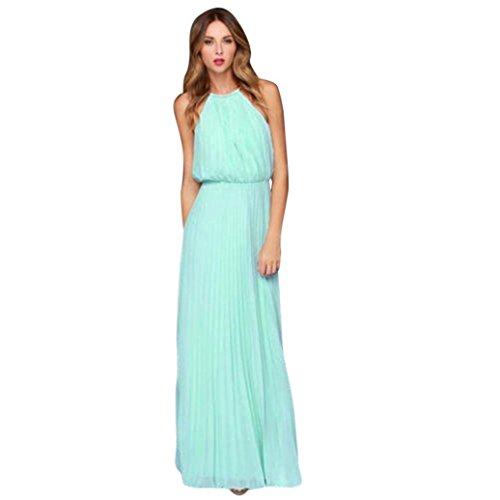 TWIFER TWIFER Damen Ärmellos Chiffon Kleid Sommer Abschlussball Partykleid MaxiKleid