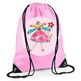 Girls Swim Bag, Pink Gym Bag, Girls PE bag, Flower Fairy Bag