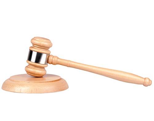 nd Resonanzblock, Tiberham Hölzerner Auktionshammer mit Sound Block für Richter Anwalt Student Auktion Verkauf Meetings Handarbeit ()