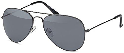 MOKIES Unisex Sonnenbrillen - UV400 Filterkategorie 3 CE Kennzeichnung - Pilotenbrille Fliegerbrille - Polycarbonat - Edelstahl - 503 anthrazit