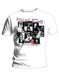 """Tee Shirt Homme Blanc Rolling Stone """"Exile Frame"""" Taille Xl"""