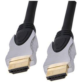 3m Deluxe HDMI-Kabel - Profi-Qualität (100% Kupfer & ofc Oxygen Free Copper) - 1080p (Full HD) - v1.3 - Audio & Video - 24k vergoldet - stilvolle Perle chrome style Metall-Finish - Chrome Perlen