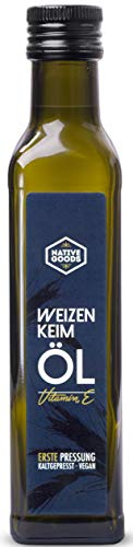 Weizenkeimöl - 1. Kaltpressung, 100% natur, reich an Vitamin E - native goods - 250ml