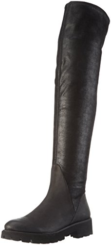 SPM Damen Atlas Overknee-Unlined Shaft+P Langschaft Stiefel Schwarz (Black/Black)