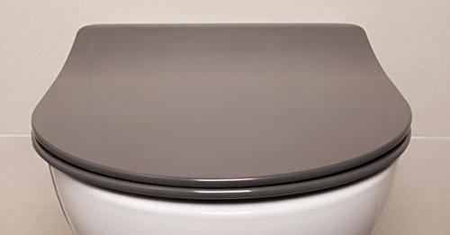 Bullseat 3.2 WC Sitz anthrazit • D Form • Absenkautomatik / Softclose • abnehmbar • easyclean • Toilettendeckel • Klobrille • hochwertiges Duroplast