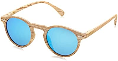 D.Franklin ULTRA LIGHT IWOOD / BLUE - gafas de sol, unisex, color azul, talla UNI