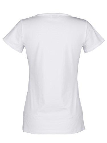 Damen Shirt mit Glitzerdruck by AMY VERMONT Weiß Bedruckt