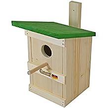 Elmato 10178 - Casita para pájaros con listón para colgar (28 mm)
