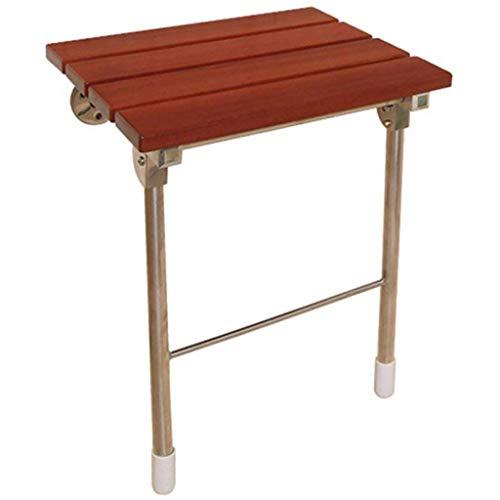 Ftaosh Folding Badewanne Dusche Sitzstuhl Wandmontage Klappsitz Stuhl, Folding Holz Ändern Schuhe Hocker Für Ältere/Behinderte Anti-Rutsch,Aviationalloy