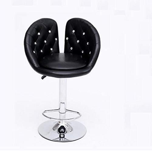 Gj tempo libero bar sedia singola girevole sedia ascensore bar sedia in pelle seggiolone bar sgabello parrucchiere sedia girevole rotonda speciale (colore : nero)