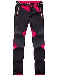 BOZEVON Nouveau Pantalon de Sport Imperméable pour Femme - Ski Alpinisme  Extérieur Chaud Épais Plus Doublé 7c45dbc0b4e