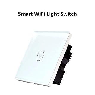 Wifi Smart Lichtschalter COOSA WLAN In-Wall gehärtetes Glas Touchscreen-Schalter arbeitet mit Amazon Alexa und Google Home, steuern Sie Ihre Fixtures, Timing-Funktion, Überlastungsschutz (1)