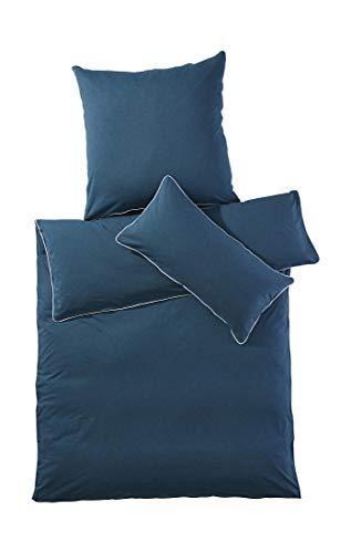 hessnatur Jersey-Bettwäsche Liam aus Reiner Bio-Baumwolle seegrün 135x200+40x80 cm