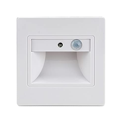 BLOOMWIN LED Recessed Wall Light with Sensor Step Lights Stair Lighting Warm White Pack of 10