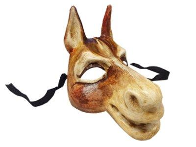 Partynutters 'Traditionelle Handarbeit Pferd Tier Masquerade venezianischen Full Face Maske