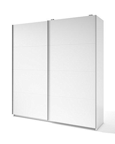 Liquidatodo®–armadio a 2ante scorrevoli moderno e di 201cm, colore: bianco