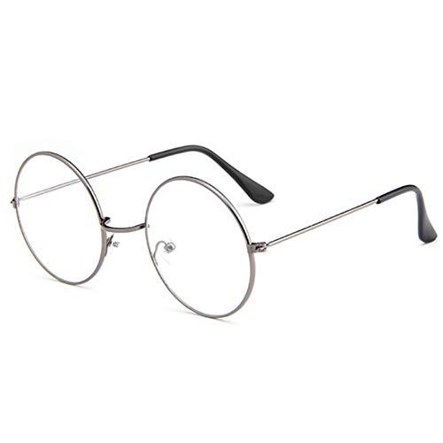 IOSHAPO Fashion Unisex Retro Metall Eyewear Full Circle Frame Optische Gläser