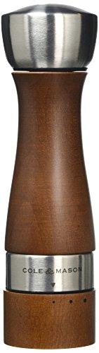 Cole & Mason CH301822G Oldbury Gourmet Précision Moulin à Sel Bois Noyer/Hêtre 190 mm