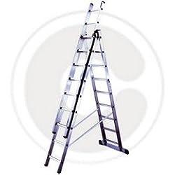 Escalera de aluminio 3x 7 mt.202 gr-426