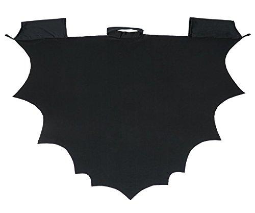 CoolChange Fledermaus Kostüm, Umhang für Kinder, Größe: 130 (Poncho Halloween Kostüm)