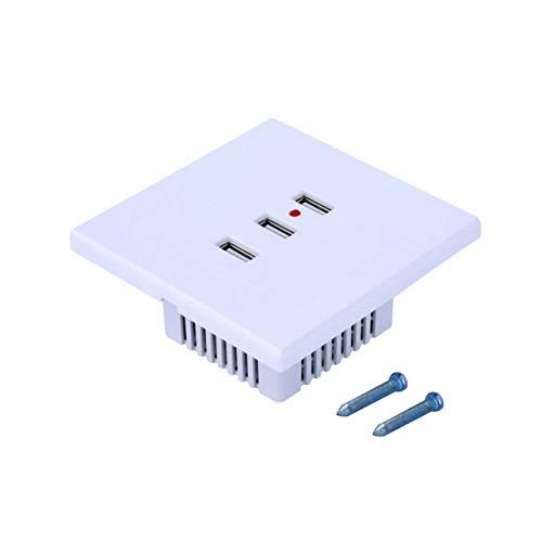 WOSOSYEYO White & Gold PC Alloy Shell Home Nützliche 3 Port USB Smart Power Ladegerät Buchse 220V bis 5V für Handy-PC Shell Usb