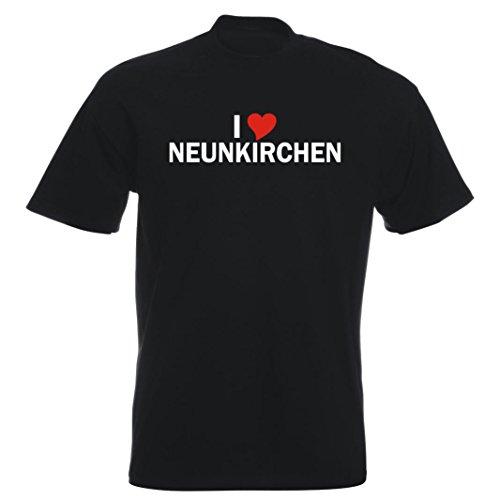 T-Shirt - i Love Neunkirchen - Herren - unisex Schwarz
