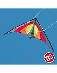 Lenkdrachen - SHURIKEN MUSTHAVE - Kite für Kinder ab 8 Jahren - Abmessung: 120x60cm - inkl. Steuerleinen auf Rollen