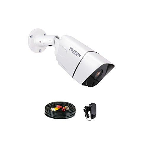 TMEZON Telecamera di sorveglianza ad alta risoluzione AHD 1.3MP 960P a LED 3660P con visione notturna IR-Cut, con cavo BNC e alimentatore