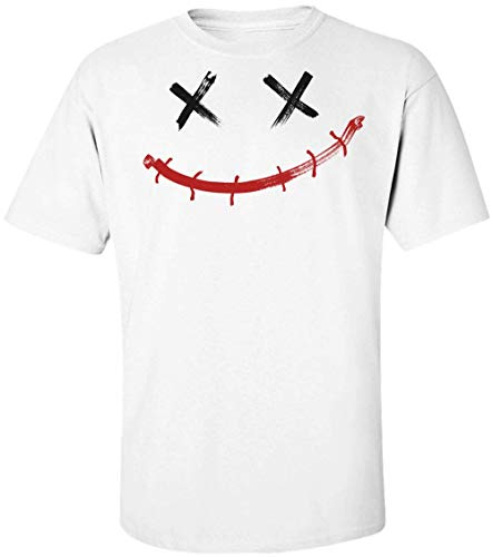 (Creepy Smiley with X-Shaped Eyes Herren T-Shirt Extra Large)